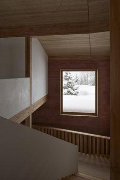 Rothaus | Jonathan Tuckey Design, Andermatt, Switzerland. Larch timber joinery and structure