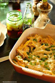 Light Smoky Paprika Chicken Alfredo Bake recipe!