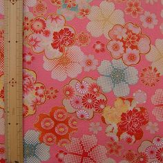 golden japanese sakura kimono fabric
