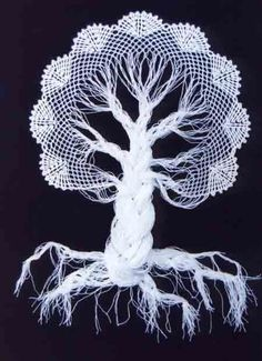 PRECIOUS FINDINGS: Crochet tree ♥LCPF♥ with diagrams, it's so easy to do. I will be making these.