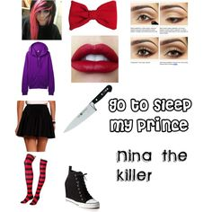 """Nina the killer"" by despinastyles on Polyvore"