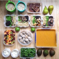 Making through Monday and the rest of the week wouldnt be as hard now that your meals are prepared just like @hannah.banana89! How yummy-looking are those vegan meals?  -------------------------- [ vegan meal  prep ] - Better late than never! Meals and snacks for the week  - Breakfast: overnight toffee proats with cinnamon & pear  Snack: chocolate peanut butter rice crispy square from @beamingbaker Lunch: spicy black beans quinoa peas & mushrooms with plantain and avocado from @we_are_food…