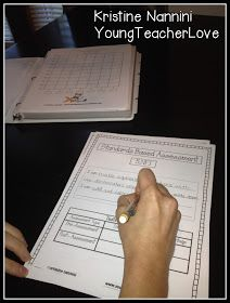 Young Teacher Love: Using Assessments with Math and ELA Student Data Tracking Binders