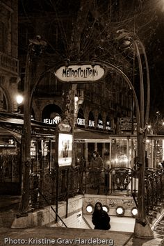 One of the remaining Art Nouveau metro entrances in Paris, from the early 1900s. This one is Place Saint-Michel, in the heart of the Latin Quarter. Love this blog!