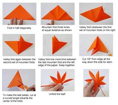 origami maple leaf