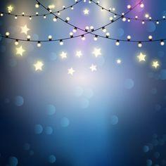 Fondo con luces y estrellas Vector Gratis