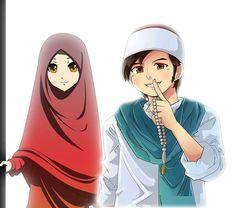 Cute Cartoon Girl, Cartoon Man, Couple Cartoon, Best Friends Cartoon, Friend Cartoon, Muslim Pictures, Islamic Pictures, Cute Love Wallpapers, Cute Cartoon Wallpapers