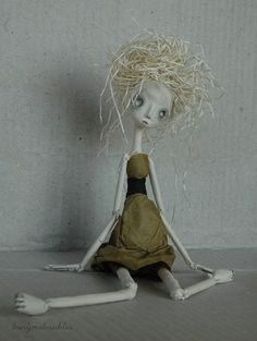Paper Clay OOAK Art Doll Cadence by burymebaubles ...adorable!!!