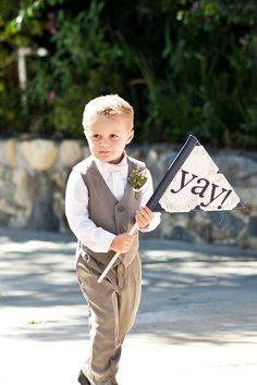 The Ashley Wedding Flag- ring bearer or flower girl sign #wedding #flag