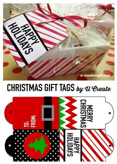 Christmas Gift Tag Free Printables and Egg Nog Bread Recipe by U Create