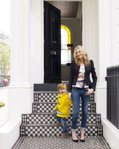 Is it bad that I pictured an amazing bright yellow handbag instead of the kid? Fashion Editor Kim Hersov's London Home in ELLE DECOR Only Fashion, Kids Fashion, Yellow Handbag, Perfect Wardrobe, Painted Floors, Interior Exterior, Exterior Paint, Fashion Editor, Fashion Tips