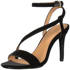 3a2afe1045c Calvin Klein Womens Nyssa Heeled Sandal Black 10 Medium US   Read more at  the image