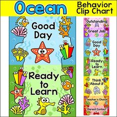 This fun Ocean theme / Under the Sea Theme behavior chart will look fantastic in your classroom!  Your students will be excited to behave well and move their clip up the coral reef chart. You can tailor this chart to your exact needs by editing the text and picking large or small sections depending on your class size.