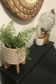 Update your entryway on a budget with this modern boho decor. Easy boho decor entryway upgrade on a budget. #hometalk