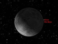 Ceres and the moon in conjunction at 5 a. EDT GMT) on Sept. The moon will appear to pass in front of, or occult, Ceres over most of North America. The Sky Tonight, Dwarf Planet, Moon Dance, Close Encounters, Out Of This World, Occult, Planets, North America, Universe
