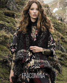 Fracomina F/W 17 - 18 (Various Campaigns) Kimono Top, Bohemian, Hair Styles, Model, Clothes, Beauty, Winter 2017, Fall Winter, Tops