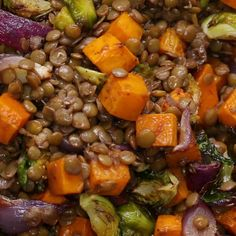 Lentil & Roasted Vegetable Salad Recipe by Tasty salad salad salad recipes grillen rezepte zum grillen Roasted Vegetable Salad, Vegetable Salad Recipes, Lentil Recipes, Roasted Vegetables, Veggies, Vegan Recipes Videos, Vegan Lunch Recipes, Vegan Lunches, Healthy Salad Recipes
