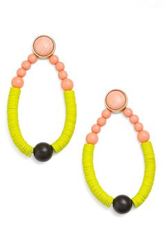 BaubleBar 'Menorca' Drop Earrings available at Bar Earrings, Tassel Earrings, Handmade Accessories, Fashion Accessories, Bracelet Making, Jewelry Making, Diamond Are A Girls Best Friend, Menorca, Bling
