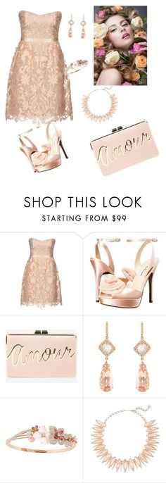 """Untitled #717"" by gabbylara ❤ liked on Polyvore featuring Notte by Marchesa, Nina, BCBGMAXAZRIA, NSR Nina Runsdorf, Chaumet and Kendra Scott"