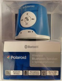 Polaroid Rechargeable Wireless Bluetooth Speaker with Mic >>> Want to know more, click on the image.