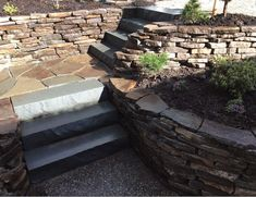 Dry stacked natural stone walls are strong, resistant to damage and are low maintenance. To discuss ideas for a natural stone wall for your property, contact Scotty's Landscaping Design at (604) 312-8924. Basalt Rock, Basalt Stone, Natural Stone Wall, Natural Stones, Stone Walls, Landscaping Design, Garden Design, Strong, Landscape