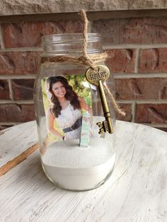 Great idea for center pieces at the graduate's party...