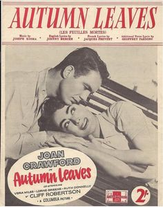 Autumn Leaves 1956-Sheet music-Joan Crawford on the cover.