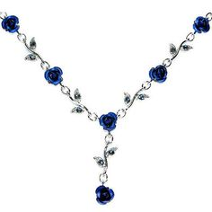 *Oh-so want for Christmas!! Swarovski Crystal Sapphire Royal Blue Rose Flower by Kashuen, $40.00