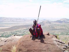 Masai en la Reserva de Masai Mara. Kenia.