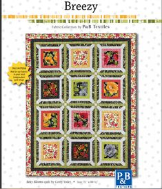 Boxy Blooms - great pattern for large scale prints!