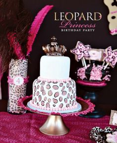 Leopard Princess Party!! <3 Adorable for a little girl. <3 When I have a little girl..I will throw her a party like this :)