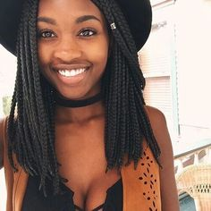 We're not seeing enough of these box braid lobs on our beauties <3