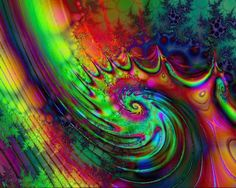 pschodelic art | psychedelic swirl by don64738 digital art fractal art fractal ...
