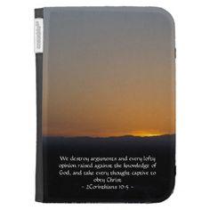 2Corinthians 10:5 Kindle Case by Scripture Classics #gift #zazzle #photogift #bible #Christian