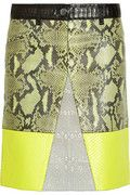 trend spotting: bright yellow. splurge:PROENZA SCHOULER python, lizard and leather A-line skirt $5,950 at www.net-a-porter.com via beauty and sass. fashion find.