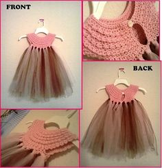 Love this, crochet and tulle.