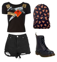 """""""Untitled #268"""" by lukeisalibero ❤ liked on Polyvore featuring Kokon To Zai and Dr. Martens"""
