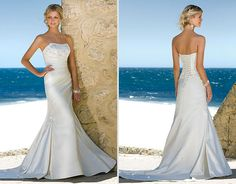Very flattering, like the material and embellishments Style 5376