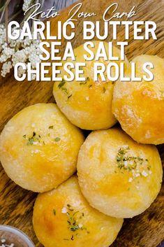 Low Carb Bread, Keto Bread, Low Carb Keto, Low Carb Recipes, Diet Recipes, Cooking Recipes, Healthy Recipes, Keto Fat, Garlic