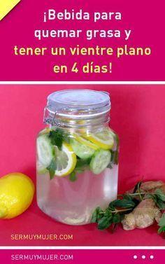 ¡Bebida para quemar grasa y tener un vientre plano en 4 días! #bebida #agua #limón #detox #adelgazar #dieta #perderpeso #bajardepeso