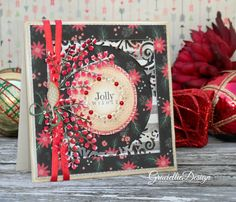 Graciellie Design: Snowy Winterberries & Jolly Wishes quick tutorial with unity stamp co.