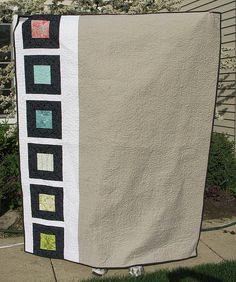 quilt back - (similar to my black & green design, but far left rather than 1/3 over)