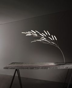 Whisper Wind Lamp by Ingo Maurer Lighting Concepts, Lighting Design, Lighting Ideas, Light Art, Lamp Light, Oled Light, Blitz Design, Ingo Maurer, Light Building