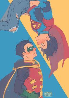 Superboy and Robin Superhero Family, Batman Family, Damian Wayne, Tim Drake, Marvel Dc Comics, Nightwing, Dc World, Univers Dc, Detective Comics