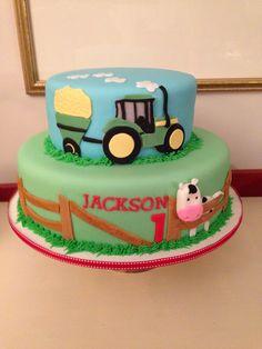 John Deer Tractor Birthday Cake, by Amy Hart