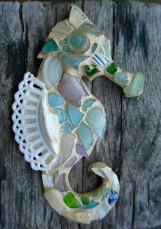 Chesapeake Sea Glass Seahorse by Maysprout (sold on Etsy), made with glass found on the shores of the Chesapeake Bay. GORGEOUS!