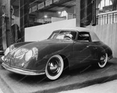 Porsche 1950 Paris Motor Show Vintage 8x10 Reprint Of Old Photo