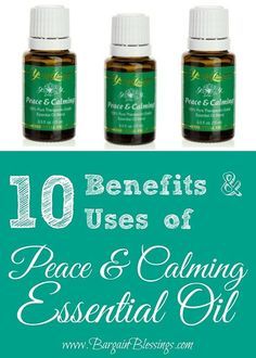 Peace & Calming Essential Oil: Great Sleep, Relaxation, Anxiety and More! #youngliving #healthyliving