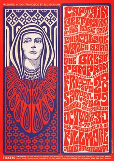 Bill Graham Presents in San Francisco  Captain Beefheart & His Magic Band/Chocolate Watch Band / The Great Pumpkin  October 28-30, 1966 Fillmore Auditorium - San Francisco by Wes Wilson