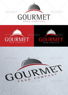 'Gourmet' Logo — Vector EPS #red #food • Available here → https://graphicriver.net/item/gourmet-logo/1929924?ref=pxcr